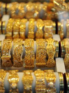 یکی از فروشگاه های لوکس زیورات طلایی در کابل عکس از: فرانسپرس/ سکانپکس