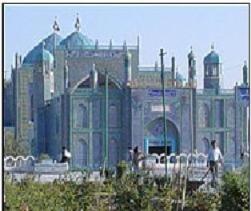 حرم حضرت علی (ک ) درشهر مزارشريف