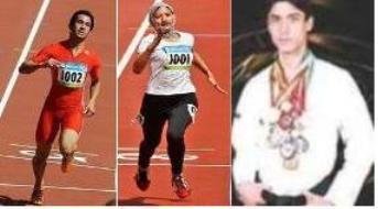 از راست به چپ  مسعود عزیزی ، روبینا مقیم یار و نثار احمد بهاوی