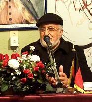 """محترم انجینیرفضل احمد """"افغان"""" در حال صحبت"""