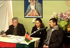 محترمین  بدخش ، عنبری و ثنا در محفل تجلیل از وفات حضرت میرزا عبدالقادر بیدل