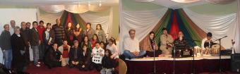 غزلخوانان وعده ی از اشتراک کننده گان شام عرس مولانا در خانه فرهنگی مولانا ونکوور