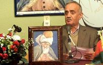 """محترم مولانا کبیر"""" فرخاری """" در حال خوانش شعر"""