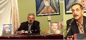 """محترم الحاج کریم """"نستوه"""" و جناب استاد اسحاق """"ثنا"""" حین صحبت"""