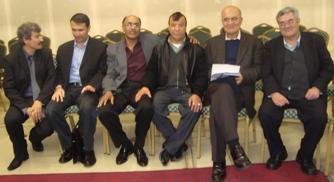 از راست به چب محترمین اسحلق ثنا ،یونس غثمانی،حاجی بریالی،مجید قیام ، عبدالله ،امان معاشر