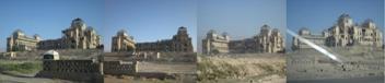 تصاویری آثار جنگ از قصرها ی تاریخی دارالاامان در شهر کابل که تا اکنون ویرانه باقی مانده است.