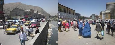 تصاویر از بازار مندوی،  عقب لیسه عایشه درانی و جاده تیمور شاهی  شهر کابل