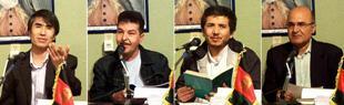 از راست به چپ :  محترم  یونس عثمانی ، محترم  فاضلی ، محترم  حبیب  یوسفی و محترم  بشیر رحیمی