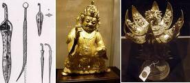 نمونه های از کار های مسین کشف شده از تمدن دوره ی سند