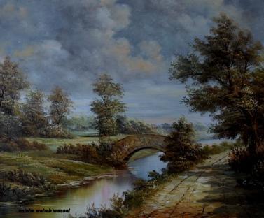یکی از نقاشی های خانم صالحه وهاب واصل