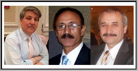 از راست به چپ : آقایان قیوم بشیر ، نذیر ظفر و حسن شاه فروغ