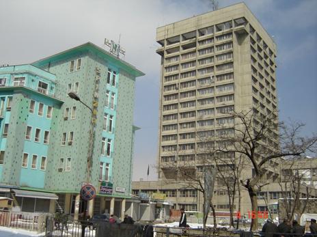 ساختمان جدید مخابرات و تعمیر پیشین اسپین زر