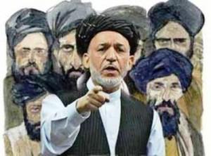 حامد کرزی با طالبان وحشی