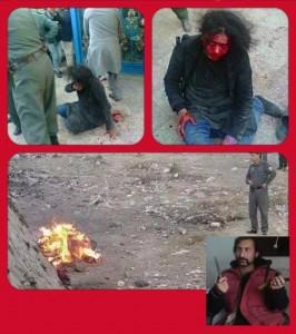 چند صحنه از کشتن و سوختن شهید خانم فرخنده