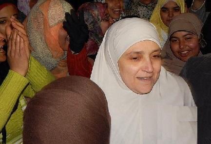 همسر محمدمرسی رئیس جمهور مخلوع مصر در تظاهرات